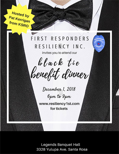 First Responders Black Tie Benefit dinner flyer